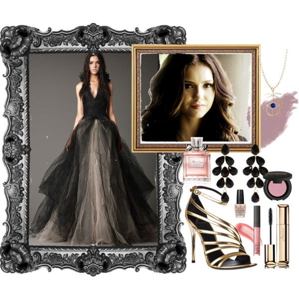 vera wang dress by nithyar on Polyvore. Featuring CADSAWAN'S Eye of Elena Necklace.