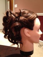 Buy Amazon: amzn.to/31bcjOk Curled updo i really like for bridemaids hair #Hair #bridemaidshair