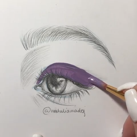 "Art | Paintings on Instagram: ""🥰 Cute eye paintings 🎨 👀 What color are your eyes? 😃 • Artist: @amykour • Follow @share_paintings for more art! 😊 • Check out:…"""