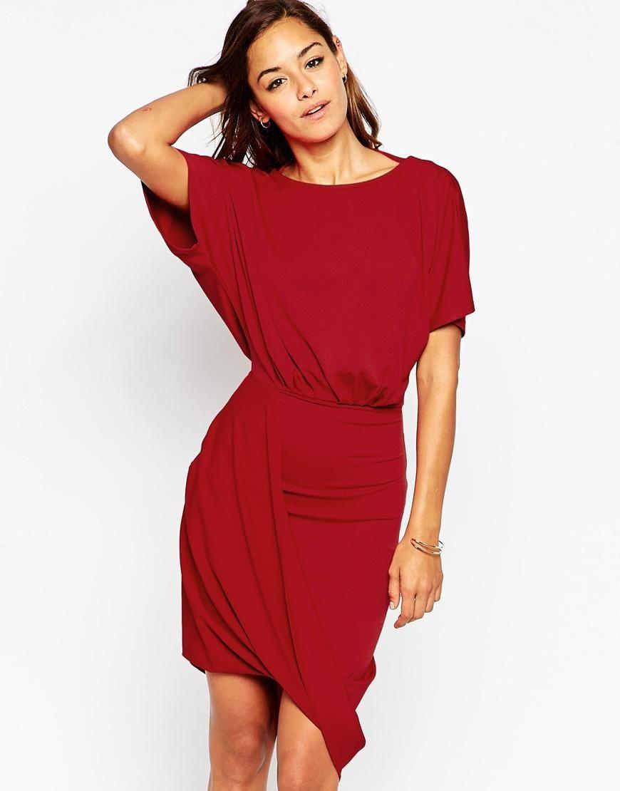 ASOS | ASOS Wrap Twist T Shirt Mini Dress at ASOS | Mini ...