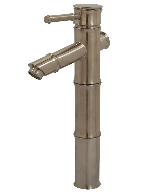 Bamboo Vessel Filler Faucet - Brushed Nickel NR530H-BN by Nerino ...