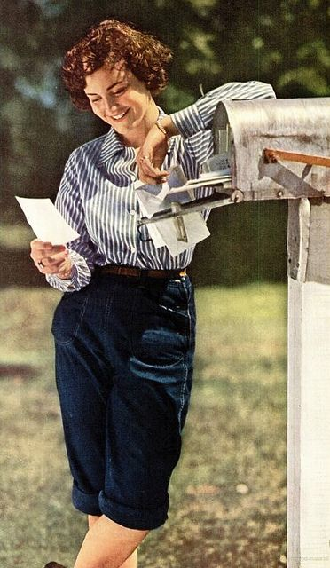 A farm girl inspired warm weather look from 1946.