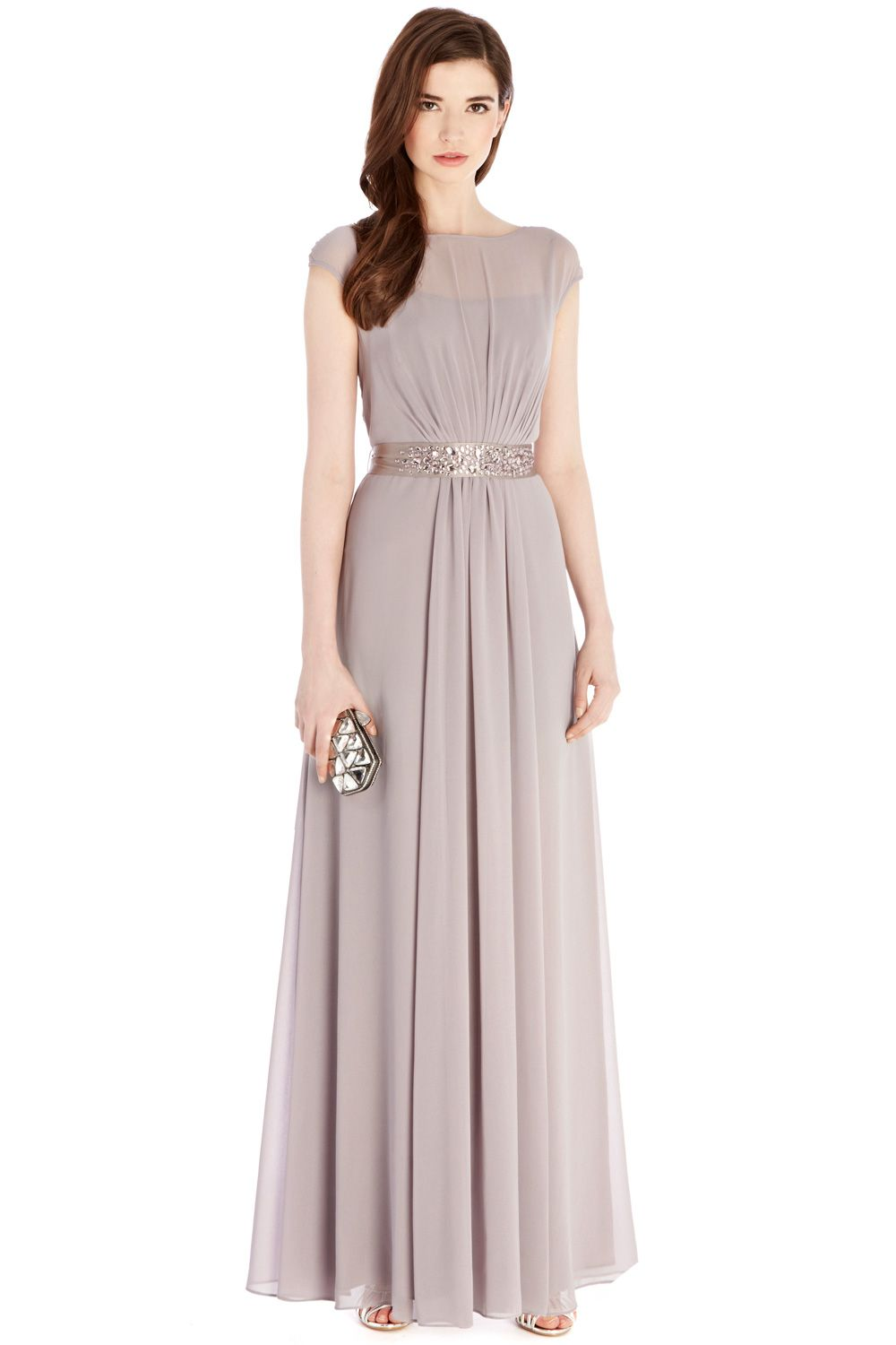 Grey Bridesmaid Dress with embellishment | Greys LORI LEE MAXI ...