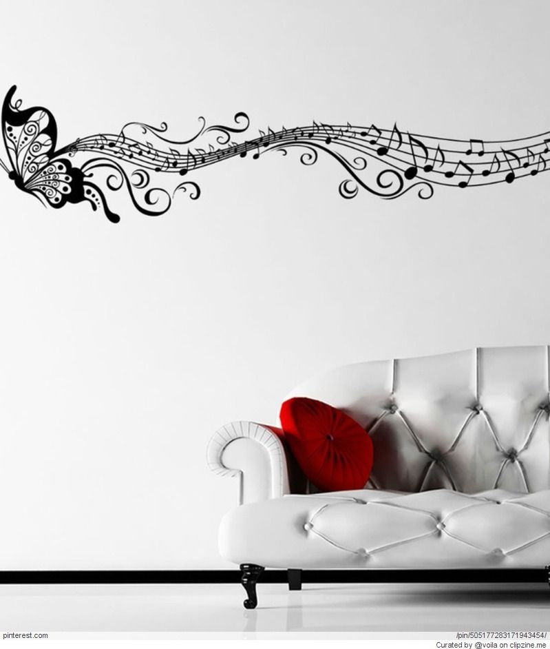 Musical Murals Wall Stickers Home Decor Diy Wall Decals Music Wall Decal