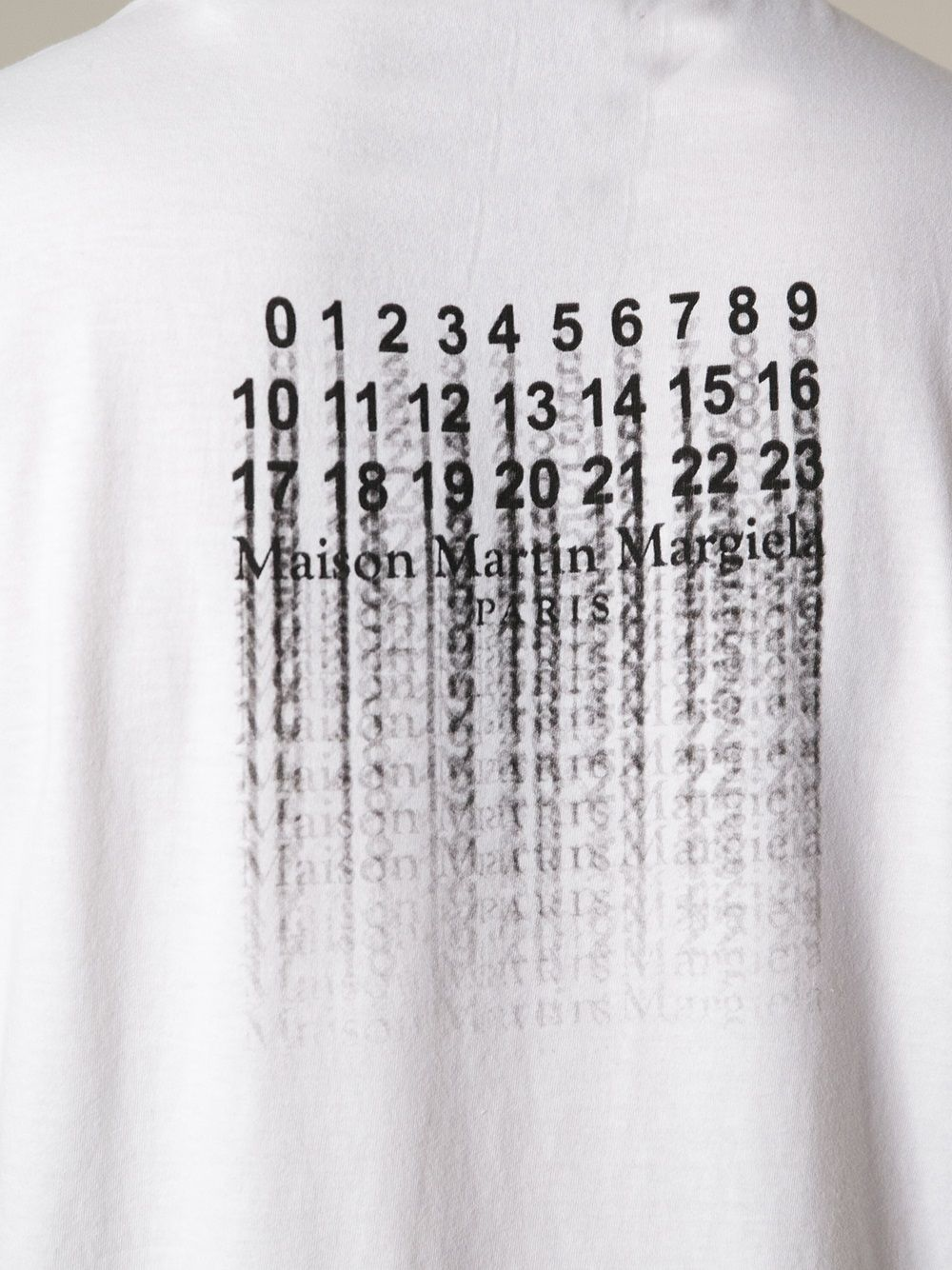 81320b657 Maison Margiela Faded Print Tshirt in White for Men | Lyst | MMM ...