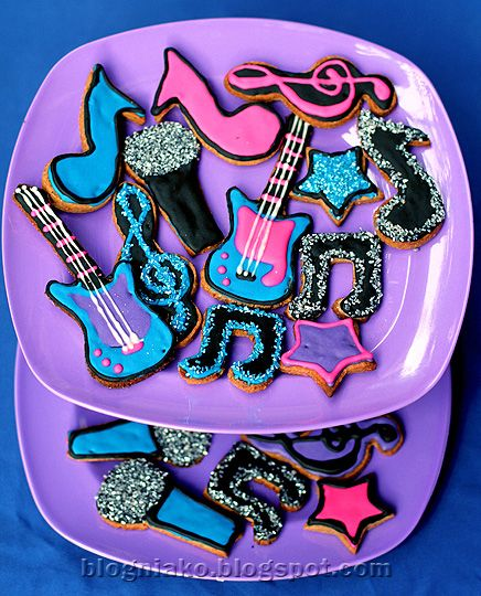Rock Star themed Sugar Cookies #rockstarparty