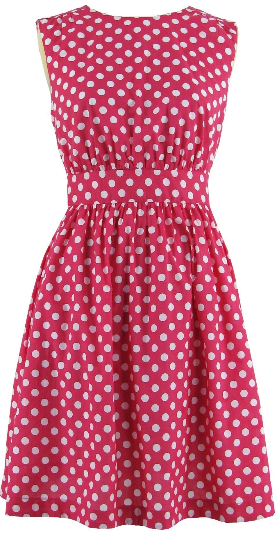 pink dresses for women | ... Fin Lucy Polka Dot Dress Pink, Dress ...