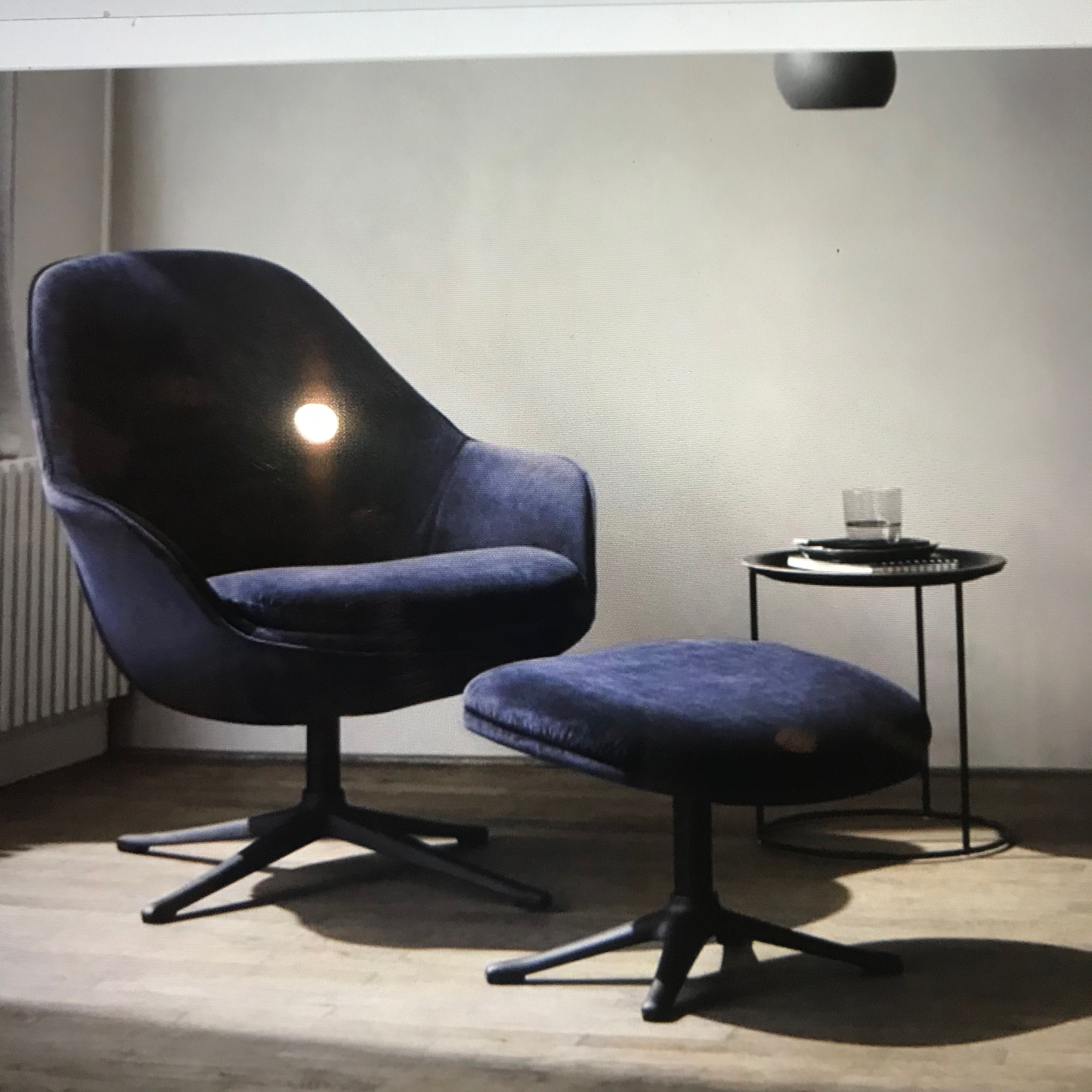 Surprising The Adelaide Chair With Footstool From Bo Concept This Is Machost Co Dining Chair Design Ideas Machostcouk