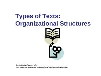 Organizing Text Structures Powerpoint, Practice Quiz and