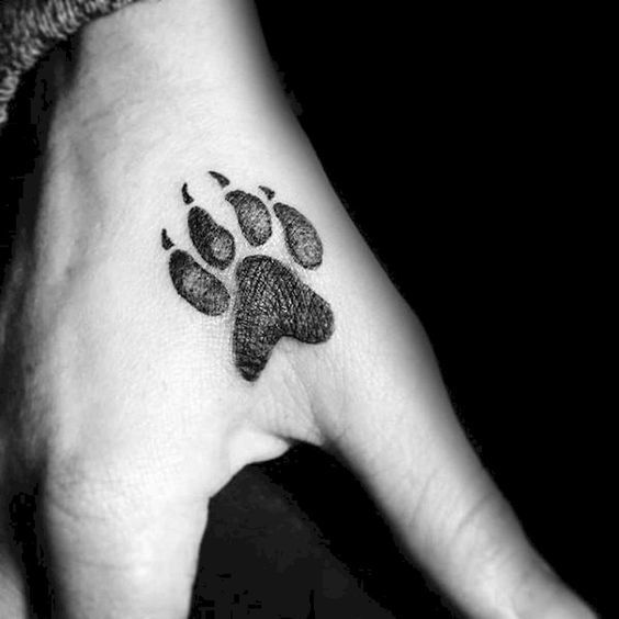 Dog Paw Tattoo Ideas For Men