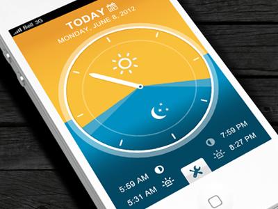 Dribbble - Simple Daylight App by Anke Mackenthun