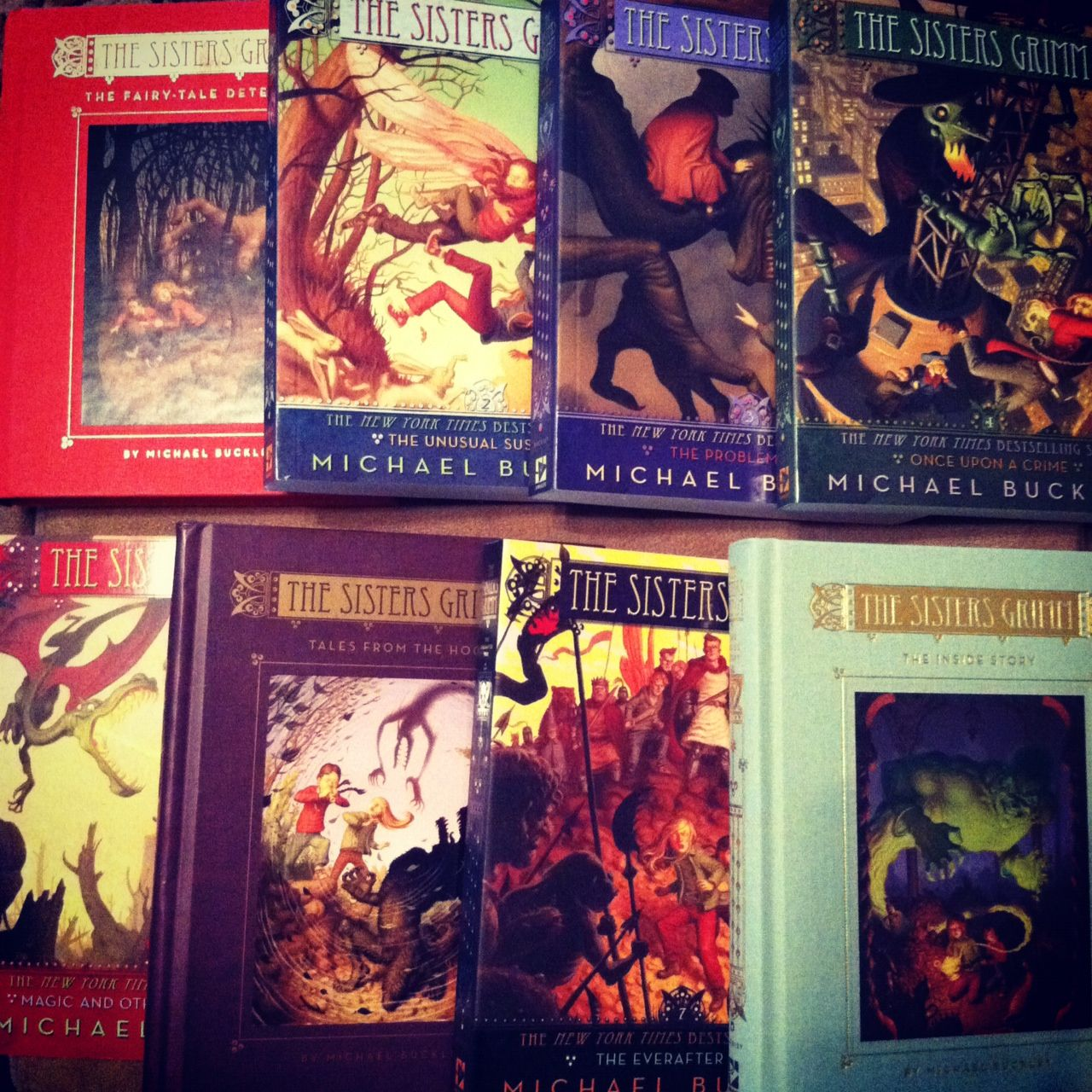 The Sister Grimm series!  Its an amazing series!!!!!! I was so obsessed with the series! Its amazing and creative! The books are very well written and are among my ultimate fav series.  Ages: 6 grade and up ( i read this series in 5/6 grade)