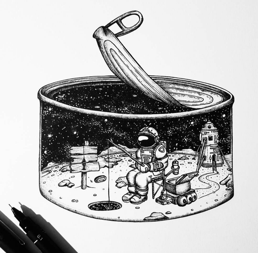 astronomy drawing tumblr - 736×721