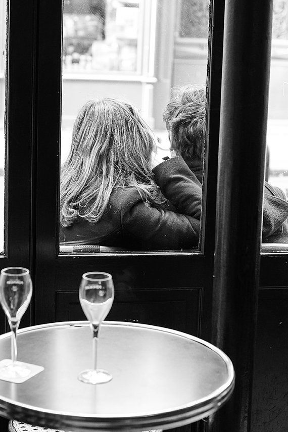 paris in love classic paris girl at cafe black and white photography paris art french decor paris cafe photo girl in paris - Black Cafe Decor