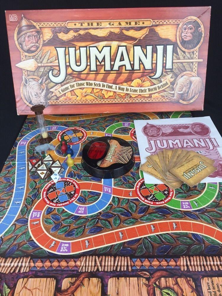1995 JUMANJI Board Game MB Milton Bradley 100 Complete