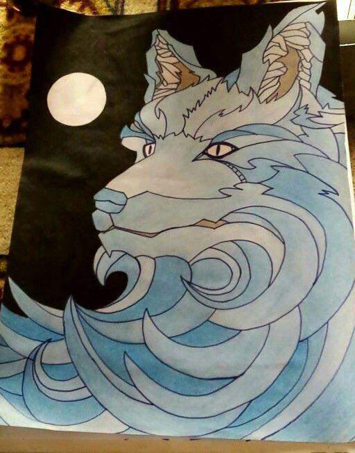 Tekenen wolf