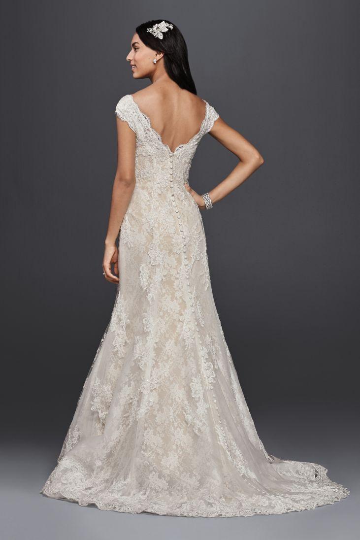 26 best off shoulder bridal dresses lace wedding dresses for Lace shoulder wedding dress