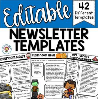 EDITABLE Newsletter Templates for Any Classroom Newsletter