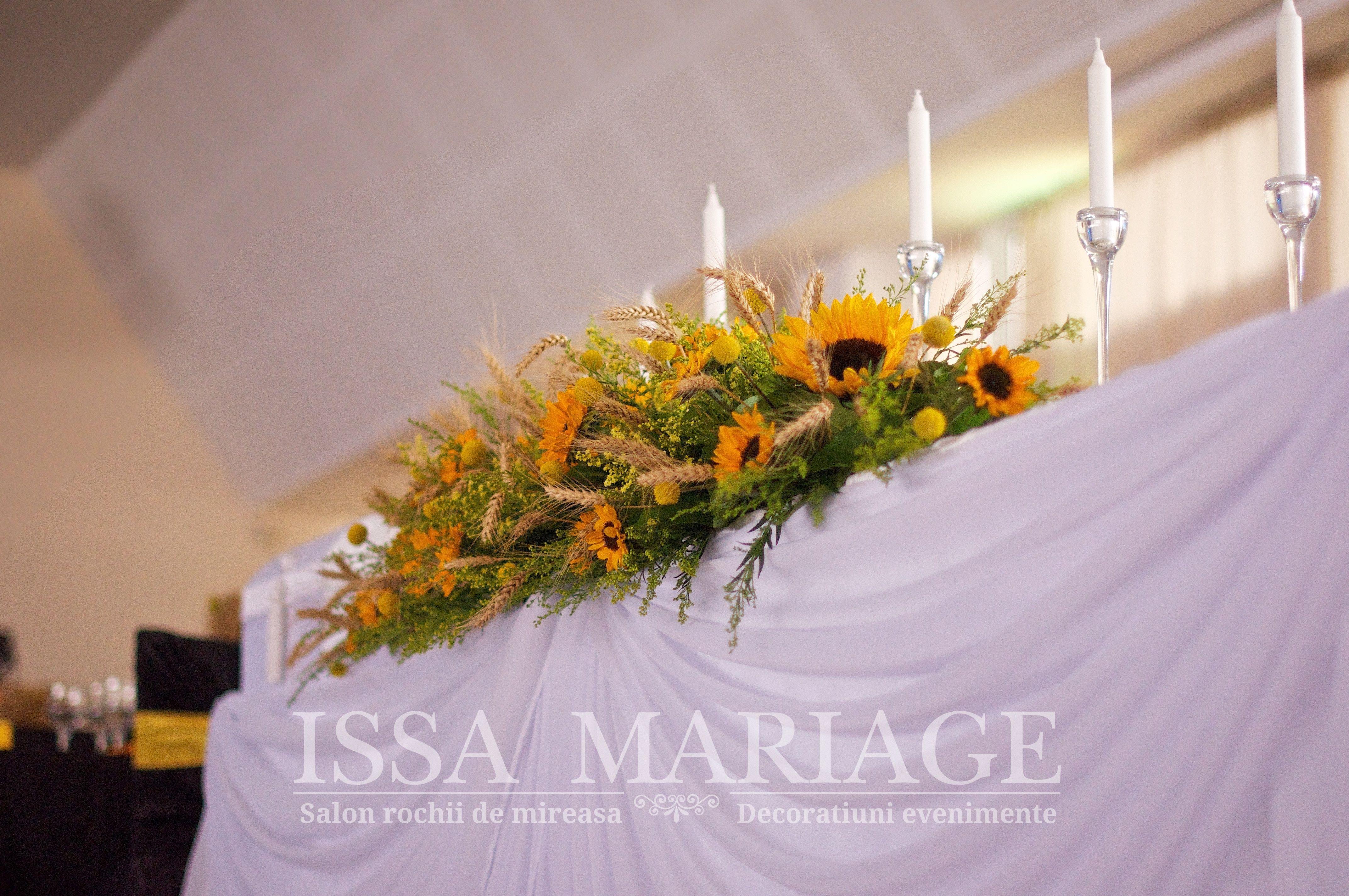 Decoratiuni Florale Nunta Floarea Soarelui Pitesti Issamariage