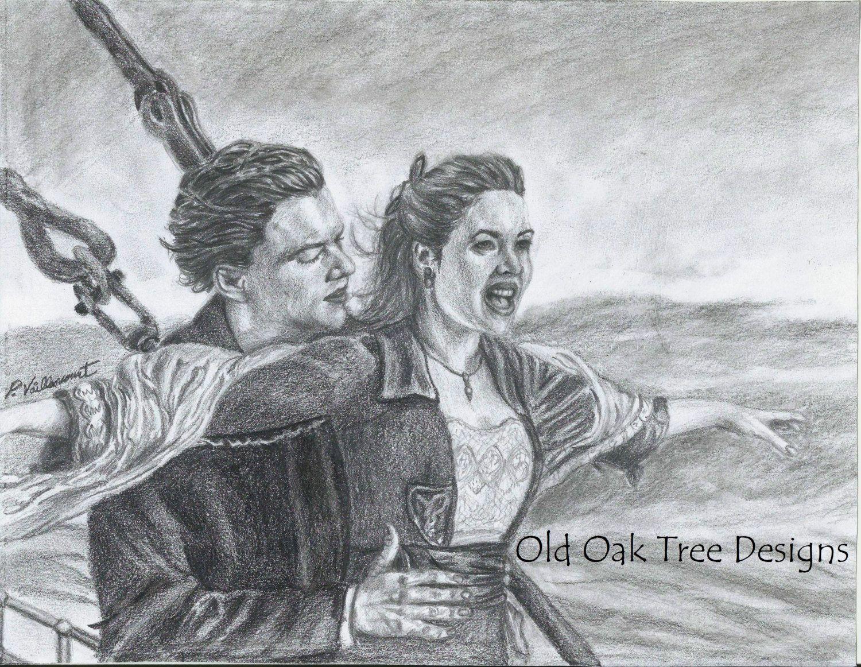 Titanic Rose Zeichnung