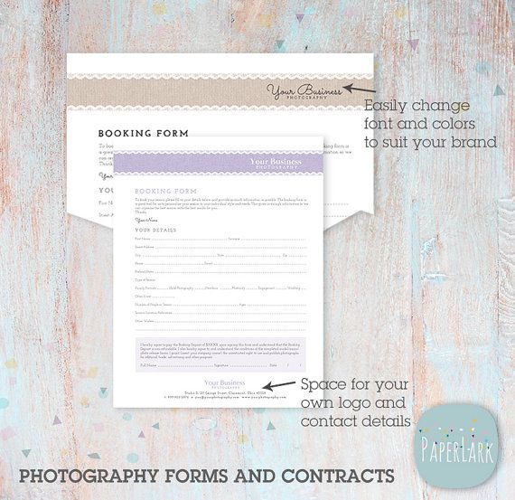 Photography Business Forms And Contracts  Ng  Instant