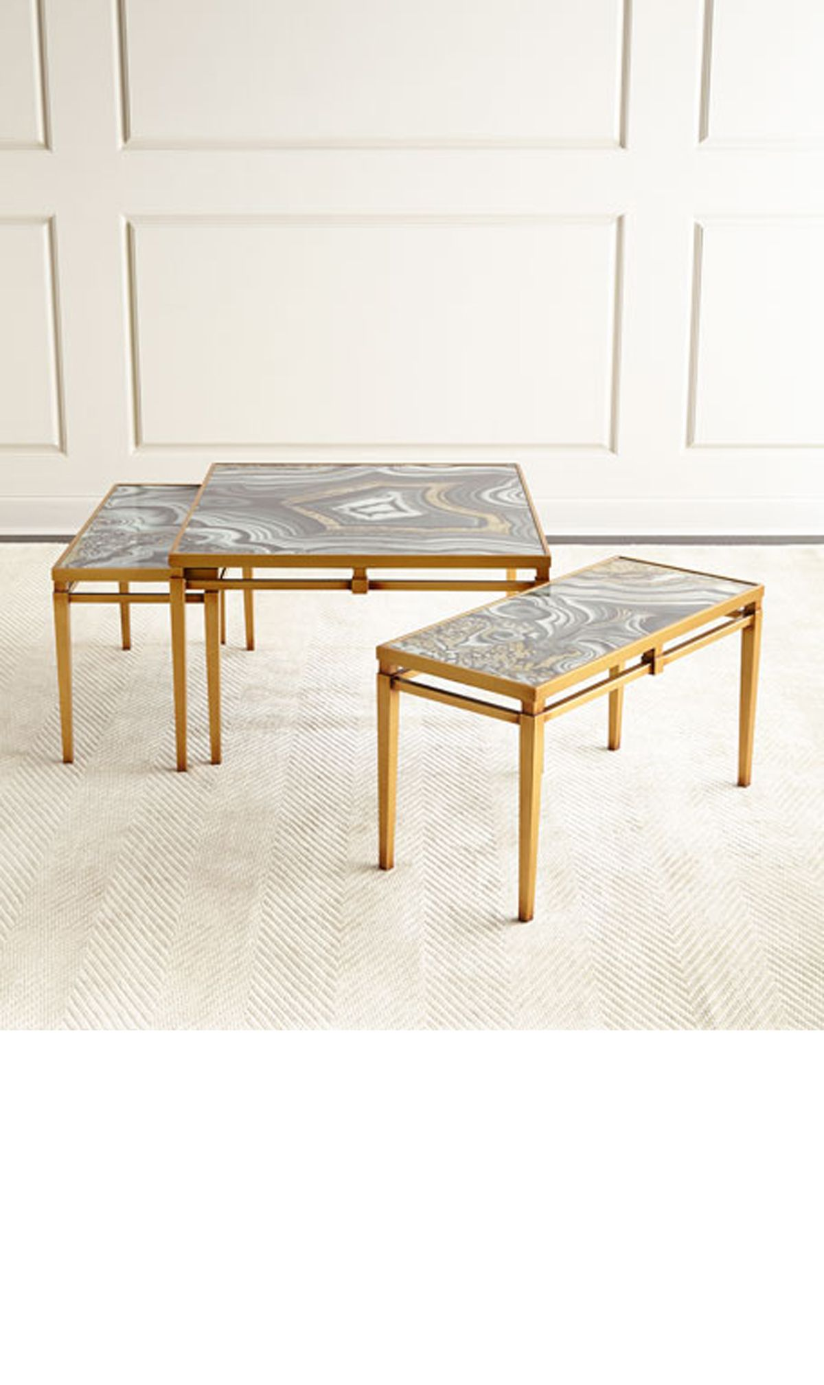 Nicola Painted Agate Coffee Table TRENDS GEODES