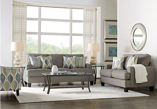Picture Of Cypress Gardens Gray 7 Pc Living Room From Living Room Entrancing Cheap Living Room Set Design Ideas