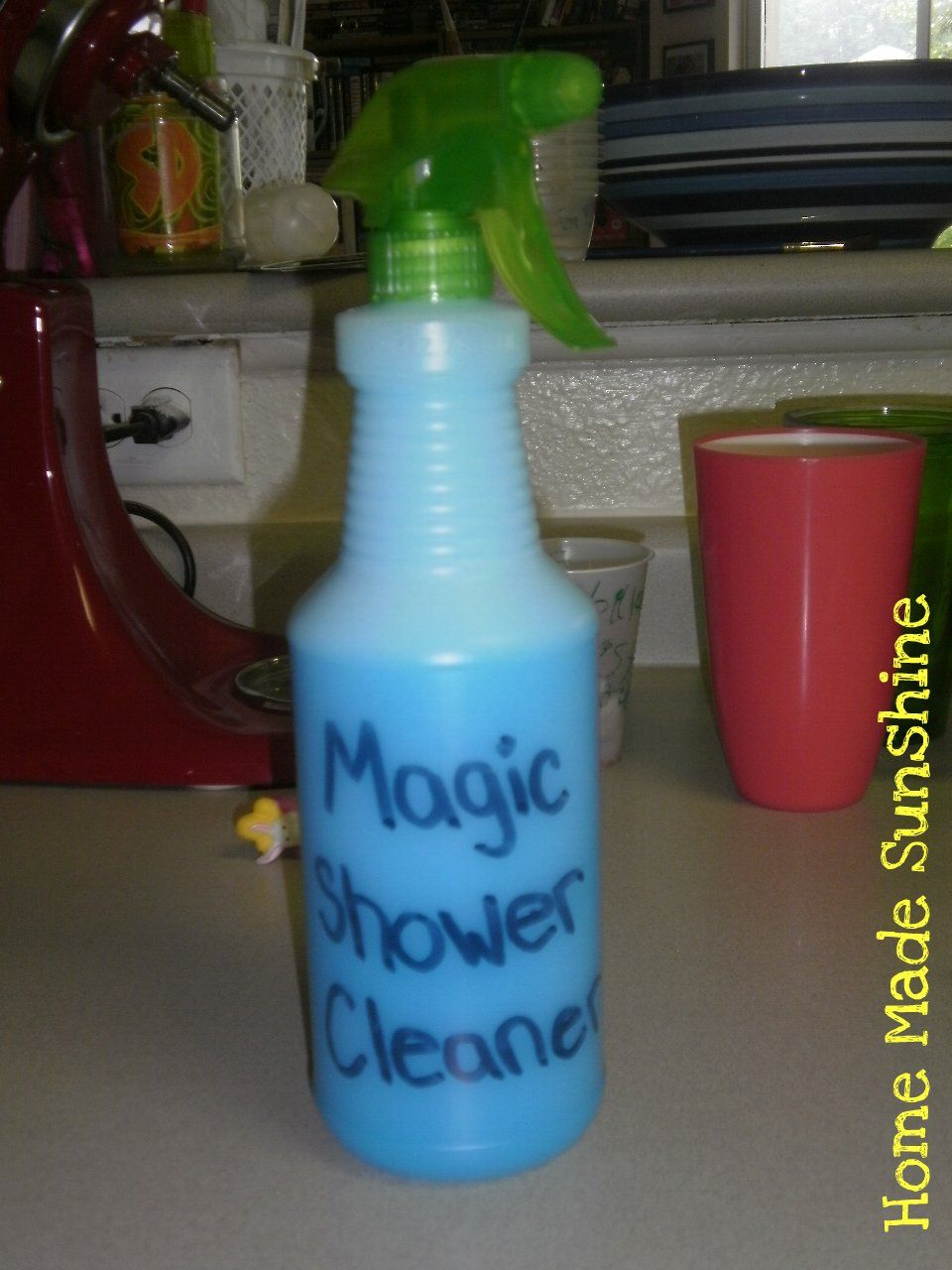 Home Made Shower Cleaner Using Vinegar And Blue Dawn