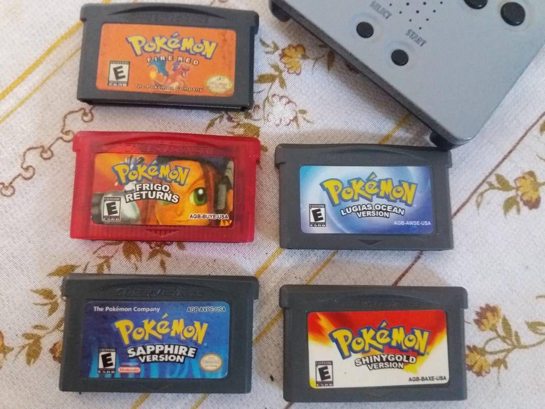 On instagram by bearstore_ #gameboy #microhobbit (o) http://ift.tt/20kvZsZ sale. 5 kaset gameboy sp / gba  Judulnya : - Pokemon fire red - Pokemon frigo returns - Pokemon sapphire ver. - Pokemon Lugias ocean - Pokemon shiny gold  Kondisi semua normal save & load lancar.  #jualpokemon #jualnintendo #jualgameboy #nintendo  #pokemon #jualkasetgameboy