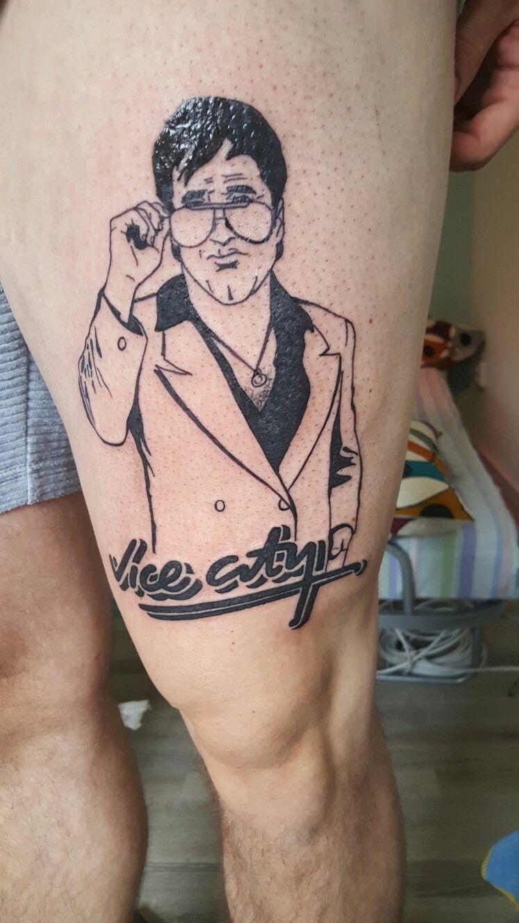 I Did A Tattoo On A Friend Gta Vice City Tattoo Tattoos City