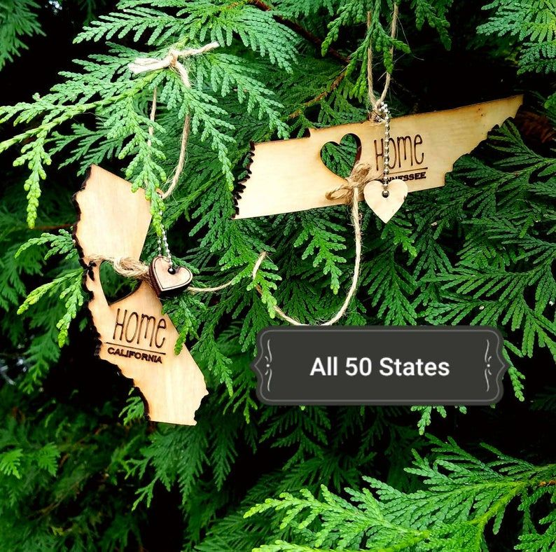 All 50 states ornaments heart home show love for your