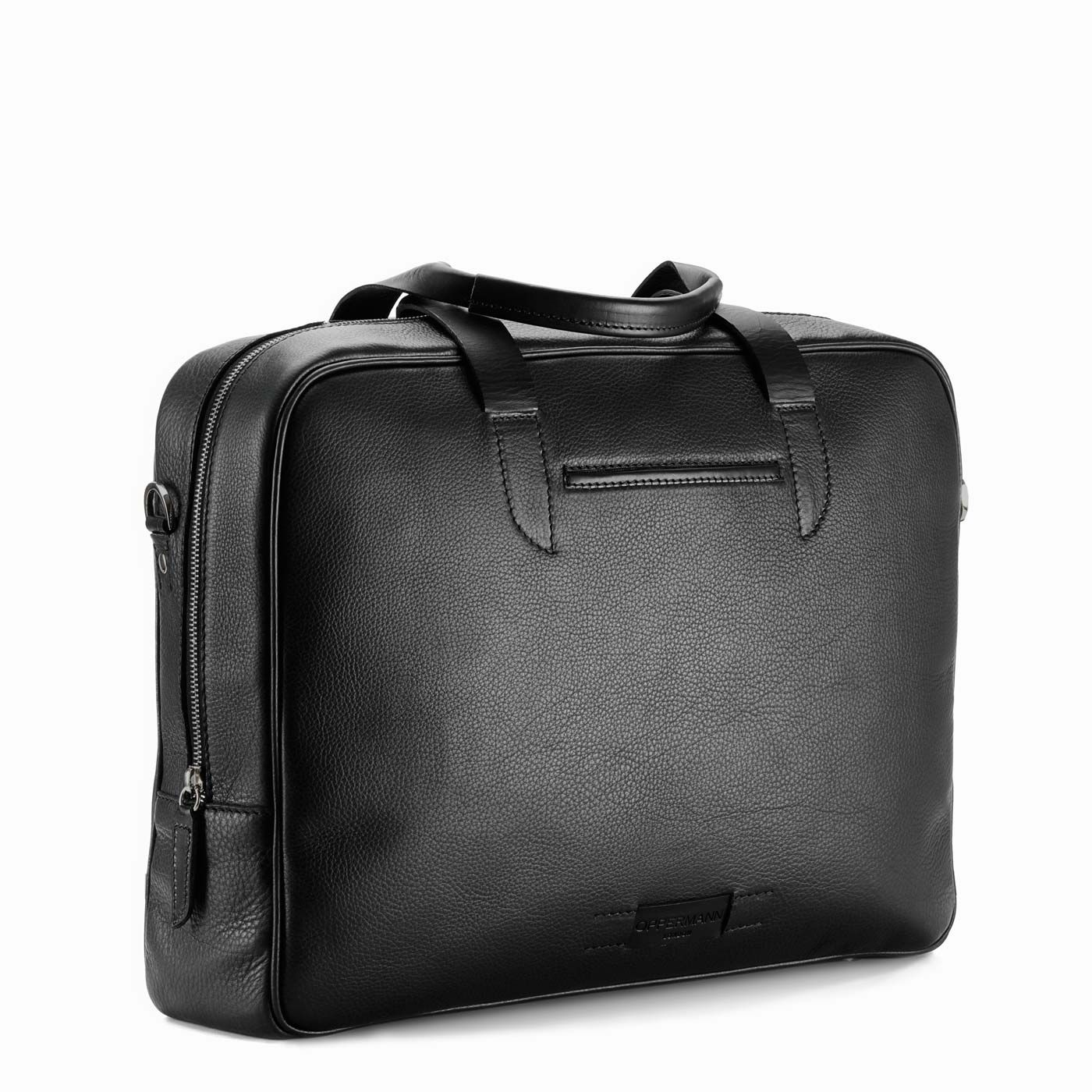 12358803e712 Bolton Briefcase Black. Leather briefcase made in Italy.