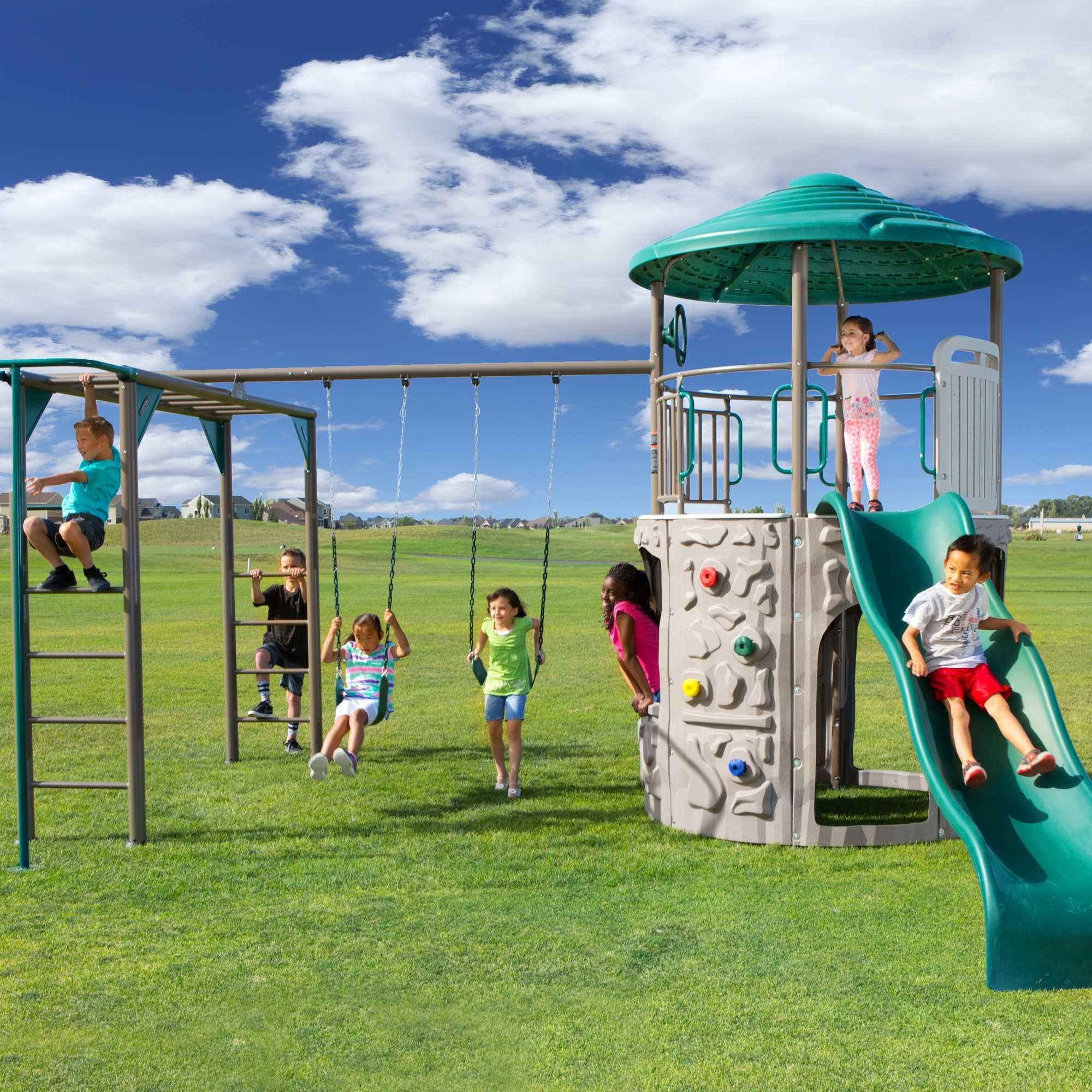 Lifetime Deluxe Adventure Tower Swing Set House In 2018