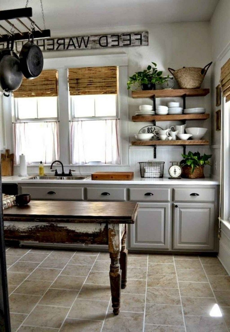 35+ Fabulous Farmhouse Kitchen Ideas On A Budget | Kitchen
