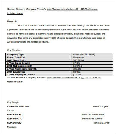 Industry Analysis Templates  Word Excel  Pdf Templates  Www