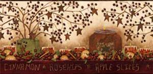 Grandma's Potpourri Wallpaper Border