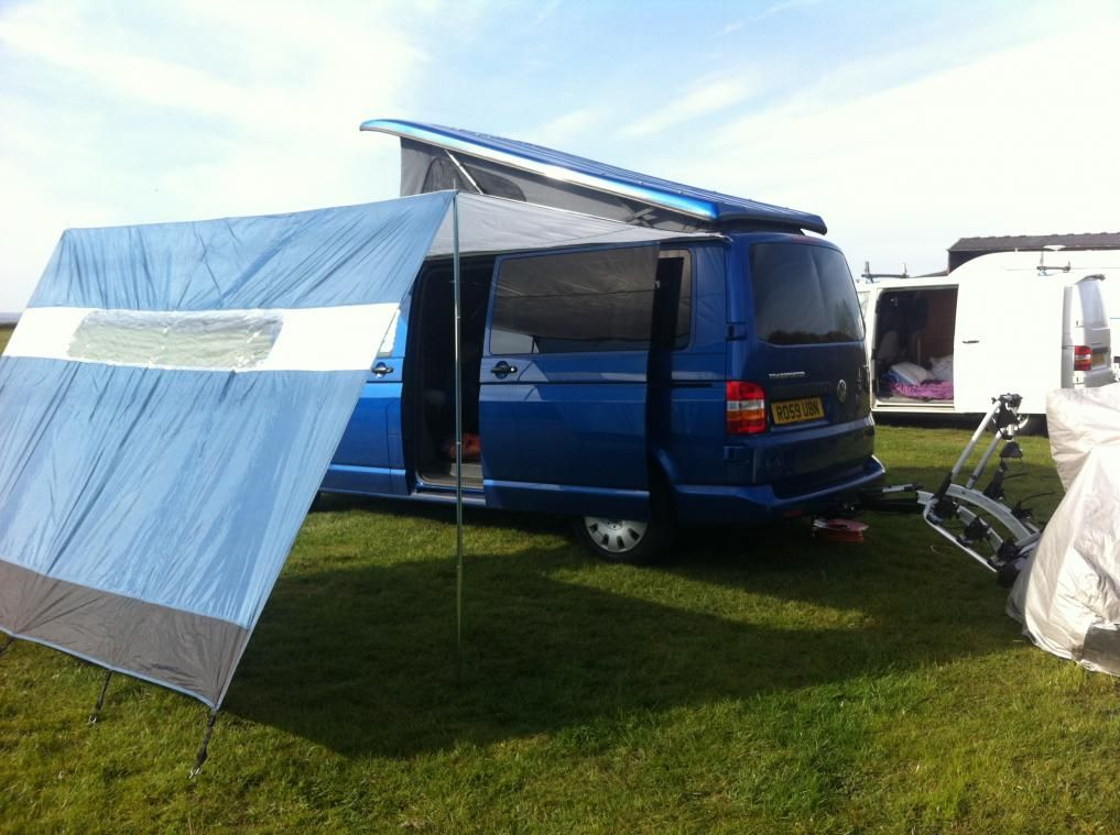 My new sun canopy - VW T4 Forum - VW T5 Forum & Homemade awning / sun canopy for a VW T5 Campervan | Camper Van ...