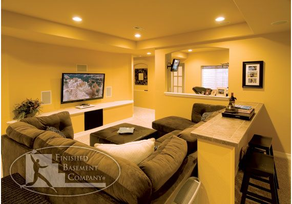 Basement Tv Area  Basement  Pinterest  Basements Basement Fascinating Basement Living Rooms Design Inspiration