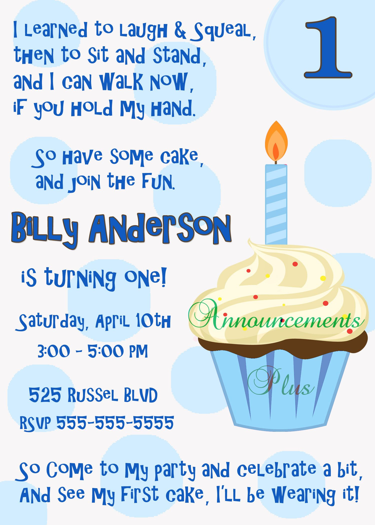 First Birthday Invitation | Birthdays | Pinterest | Birthdays ...