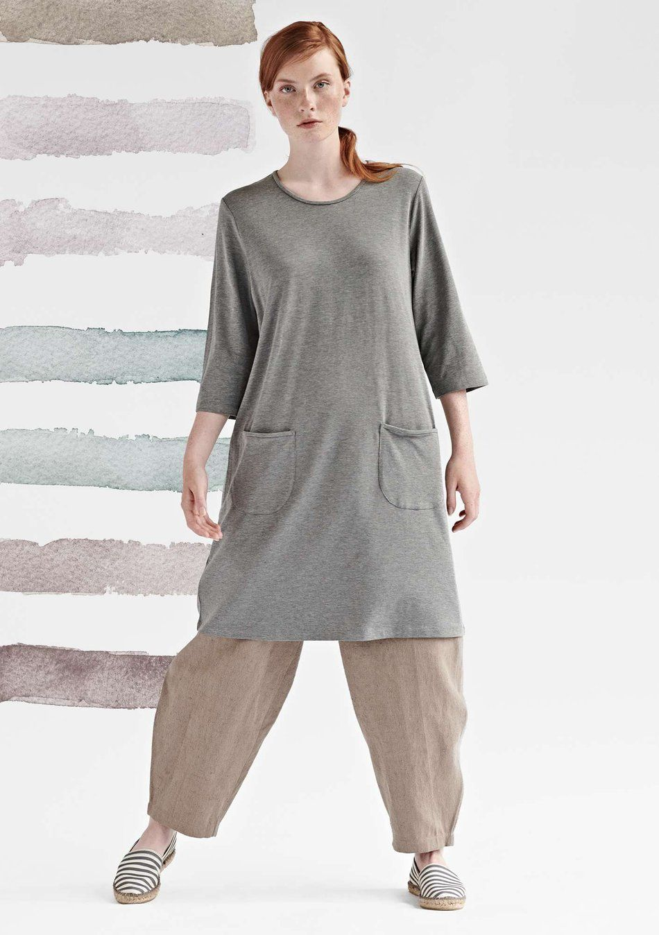 815f3163 Kjole DOT light grey melange | Gudrun Sjödén i 2019 | Pinterest ...