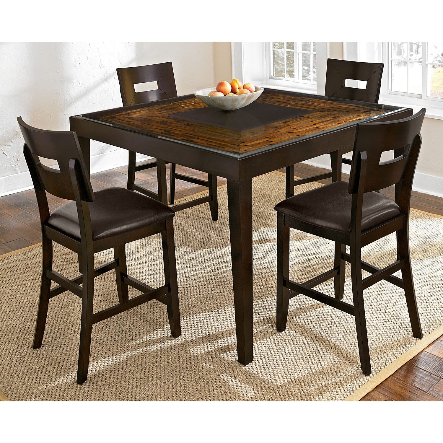 Cyprus Ii 5 Pc Counter Height Dinette Value City Furniture Kitchen Table Settings Furniture