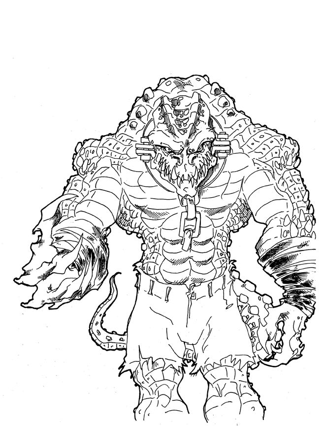 Week 7 Killer Croc by Andrew Charipar by misfitcorner on