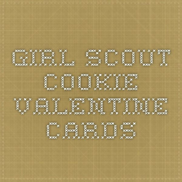 Girl Scout Cookie Valentine cards