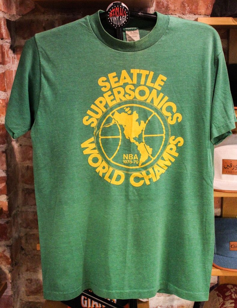 Seattle Sonics World Champs size Small 1979 Champs