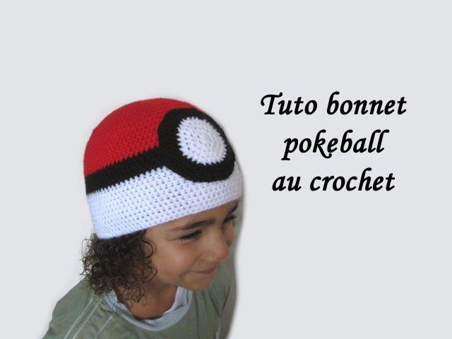 tuto bonnet pokeball,bonnet pokeball crochet, tuto bonnet pokemon ...