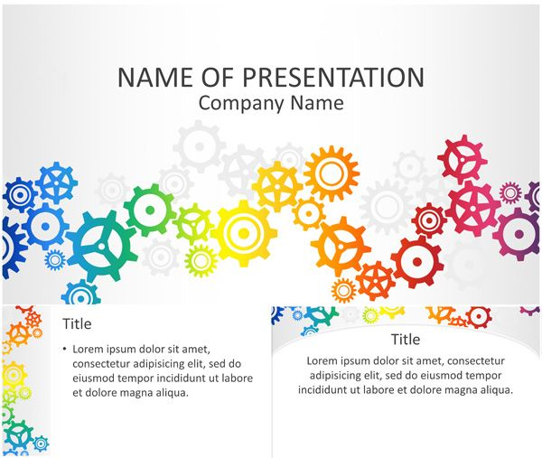Colorful Gears Powerpoint Template Templateswise Abstract