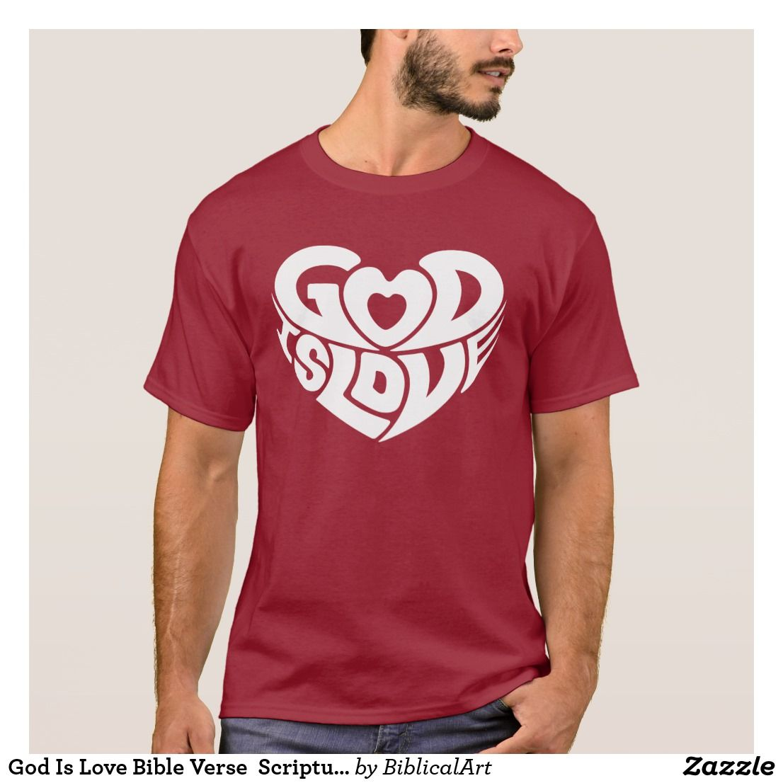 god is love bible verse scripture cool christian t-shirt in 2018