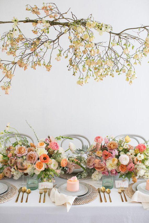 c33a9640dd38 Blush floral bridal shower inspiration   Bridal Shower Ideas ...