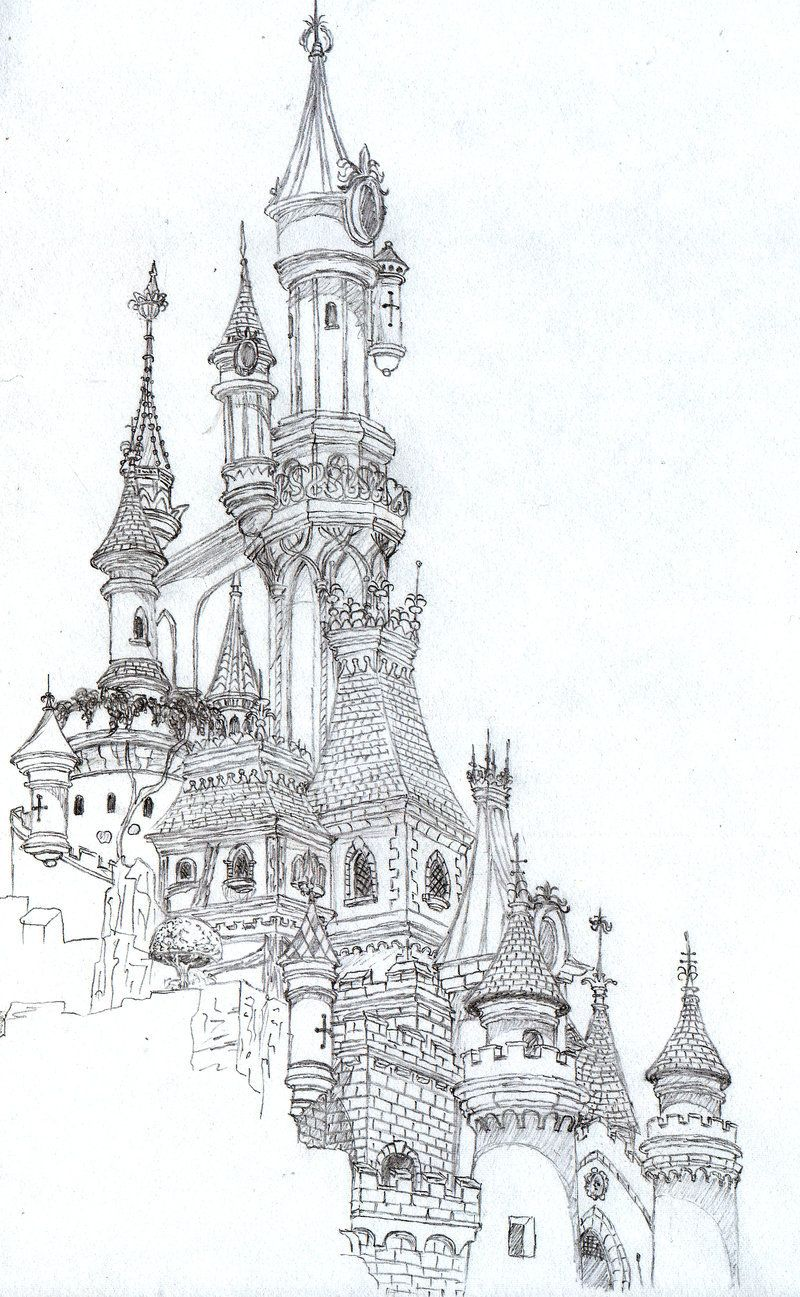 Disneyland Paris Castle Castle Drawing Architecture Drawing Art
