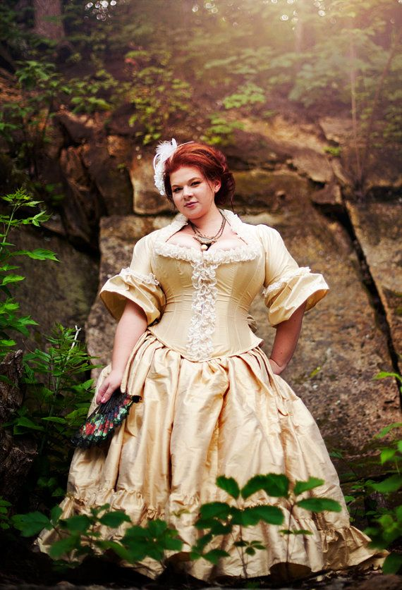 I want this Dress! Plus Size Victorian Wedding Dress Corseted Jacket ...